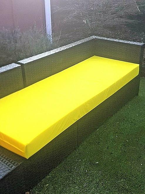 Kosipad Pallet Seating Bench Garden Furniture Foam Pads Waterproof Yellow