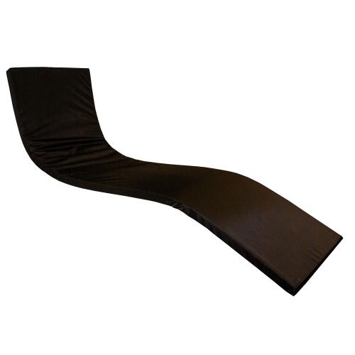 KosiPad Deluxe Waterproof Sun Lounger Mattress For Garden Beach Black