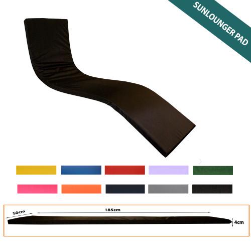 4cm Thick Sun Lounger Mattress, Yellow Waterproof Sunlounger Cushions Pads - Kosipad