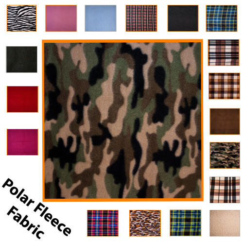 """Kosikrafts Red Check synthetic fleece fabric Material by the metre, 153cm / 60"""" Width"""
