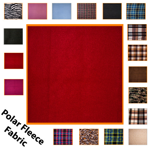 """Kosikrafts Red synthetic fleece fabric Material by the metre, 153cm / 60"""" Width"""
