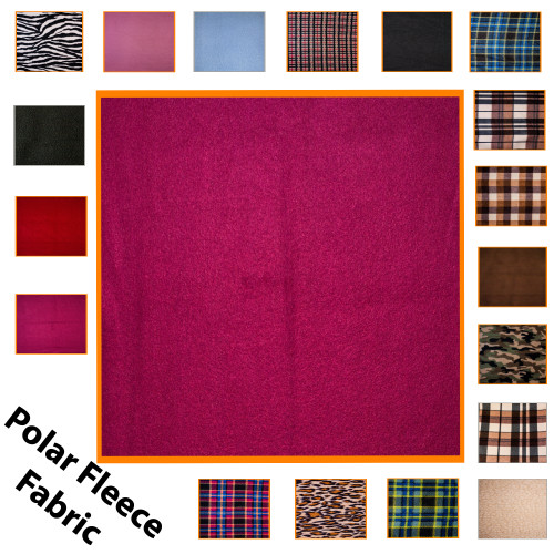 """Kosikrafts Wine synthetic fleece fabric Material by the metre, 153cm / 60"""" Width"""