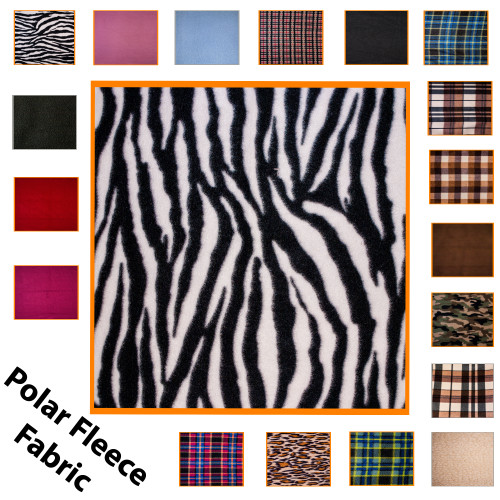 """Kosikrafts Zebra Print synthetic fleece fabric Material by the metre, 153cm / 60"""" Width"""