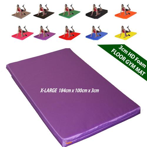 Kosipad 3cm Thick foam floor gym crash mats Purple X-Large