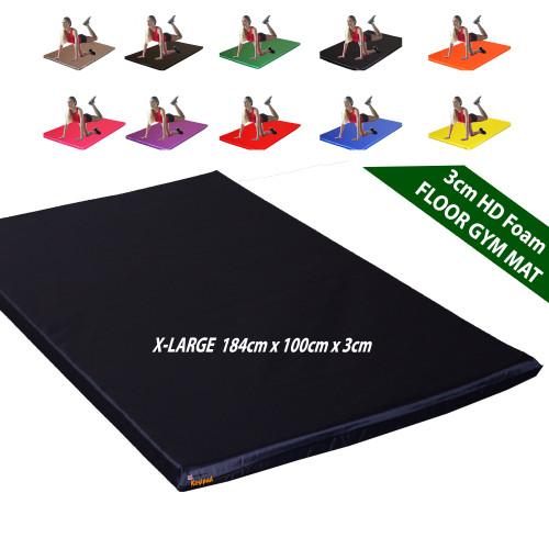 Kosipad 3cm Thick foam floor gym crash mats Navy Blue X-Large