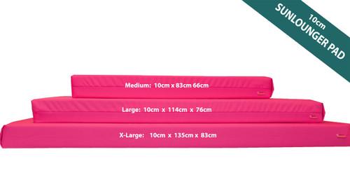 KosiPad Waterproof Sun Lounger Mattress For Garden Pink