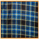 Polar Fleece Fabric Blue Check