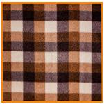 Polar Fleece Fabric Brown Check