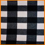 Polar Fleece Fabric Black and White Check