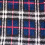 Polar Fleece Fabric Navy Plaid