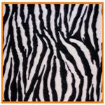 Polar Fleece Fabric Zebra Print