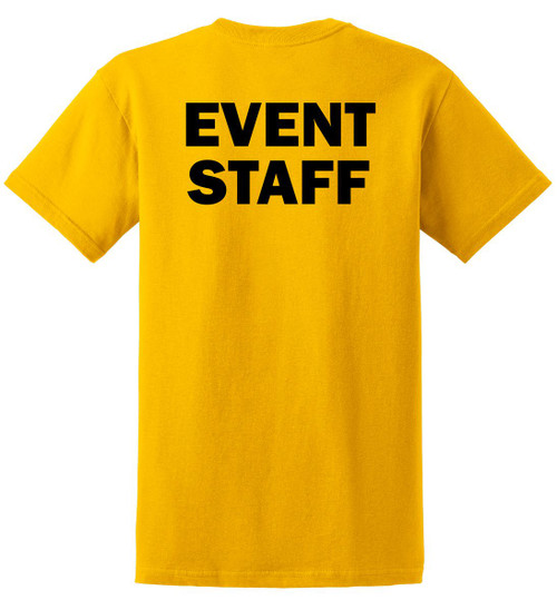 Easy to see event staff t-shirt