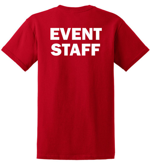 Red Event Staff T-Shirt