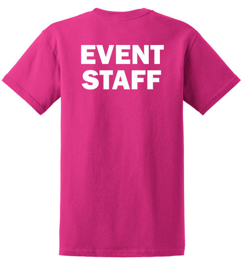 Event Staff Cotton T-Shirts Printed Back, Pink