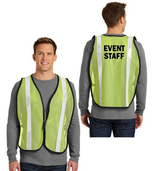 Yellow Event Staff Mesh Vest