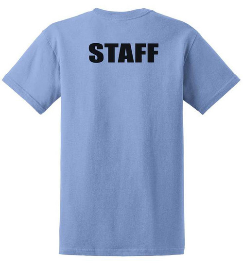 Staff T-Shirts Printed Back,Carolina