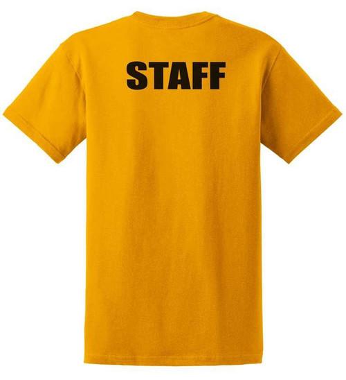 Staff Cotton T-Shirts Printed Back,Gold
