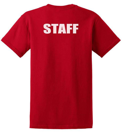 Staff Cotton T-Shirts Printed Back,Red