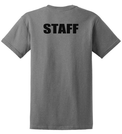 Staff Cotton T-Shirts Printed Back,Grey