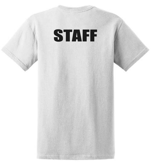 Staff Cotton T-Shirts Printed Back,White
