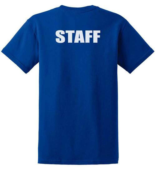 Staff Cotton T-Shirts Printed Back,Royal