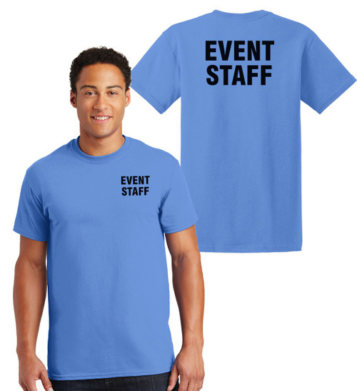 Event Staff Cotton T-Shirts Printed Left Chest and Back,Carolina