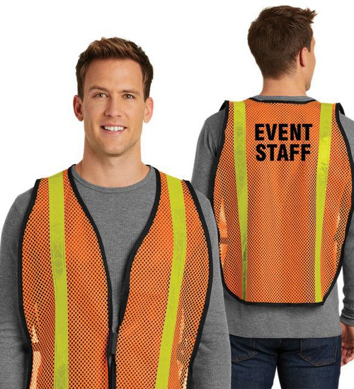 Orange Event Staff Reflective Vest