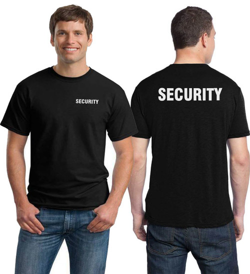 Security Tee-Printed Left Chest and Back