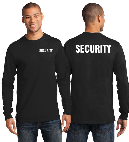 Long Sleeve Security T-Shirt with Big and Tall