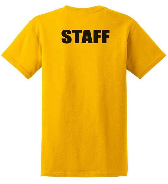 Staff Cotton T-Shirts Printed Back,Yellow