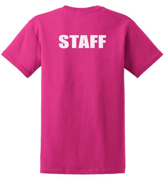 Staff Cotton T-Shirts Printed Back,Heliconia