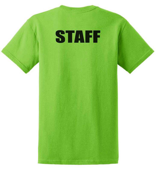 Staff Cotton T-Shirts Printed Back,Lime