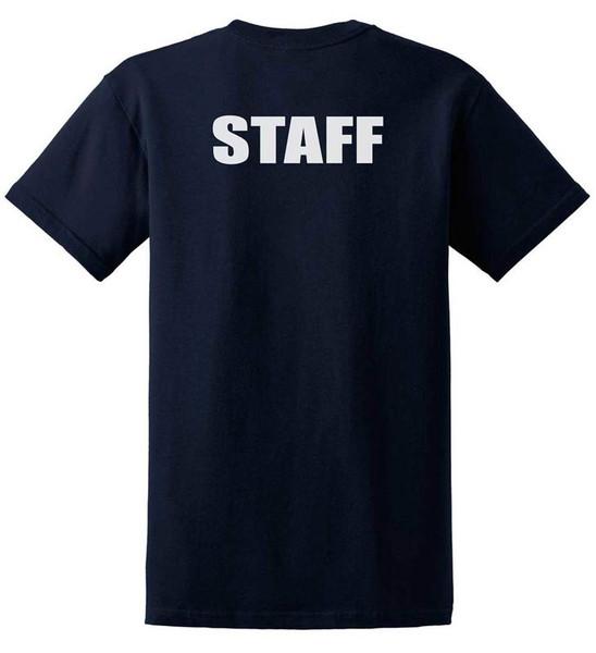 Staff -Big and Tall Cotton T-Shirts Printed Back,Black