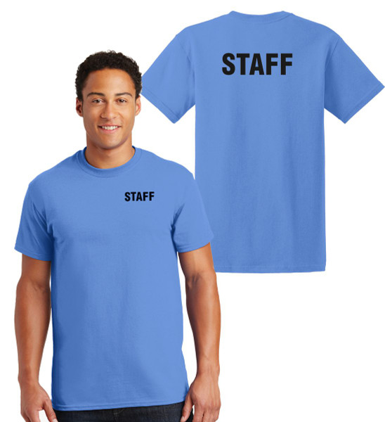 Staff Cotton T-Shirts Printed Left Chest and Back,Carolina