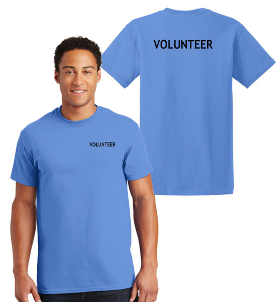 Volunteer Cotton T-Shirts Printed Left Chest and Back,Carolina