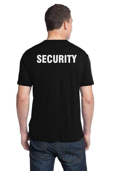 Security T-Shirt Printed Back Only,Black