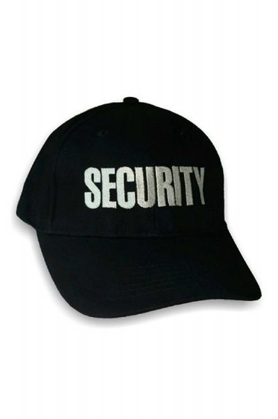 Embroidered Security Hat, Black