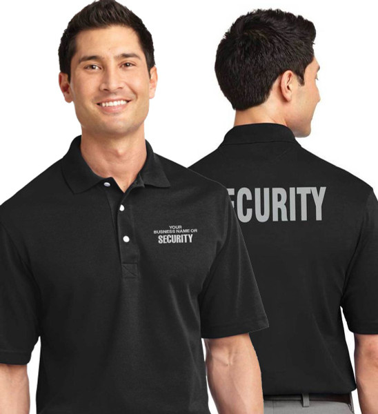 Rapid Dry Security Polo - Custom Left Chest and Reflective Security on the Back