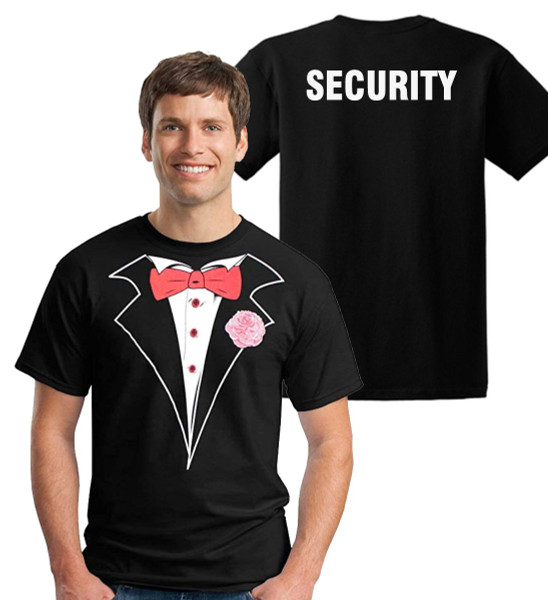 Classic Tuxedo T-shirt with Security on the back