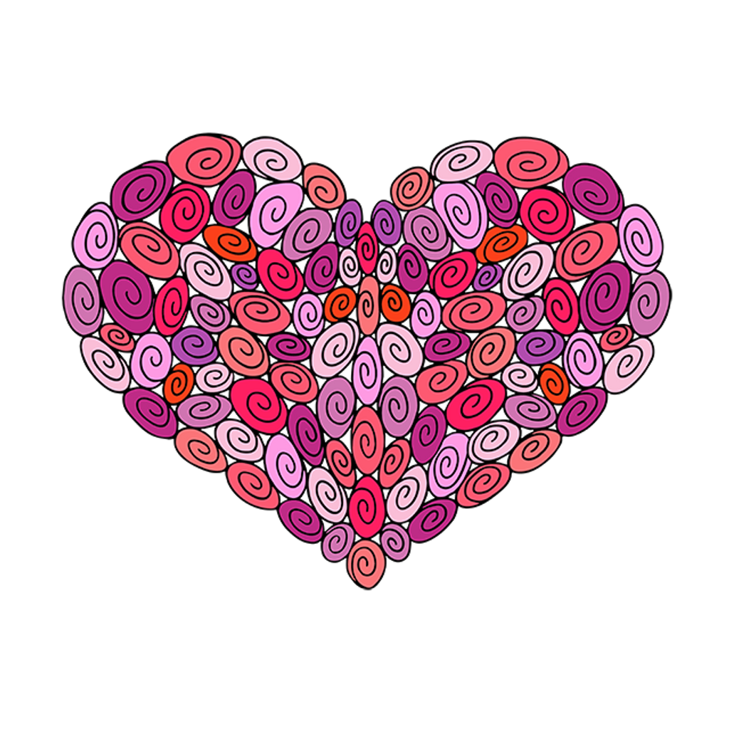It's your heart—you can color like you want to!
