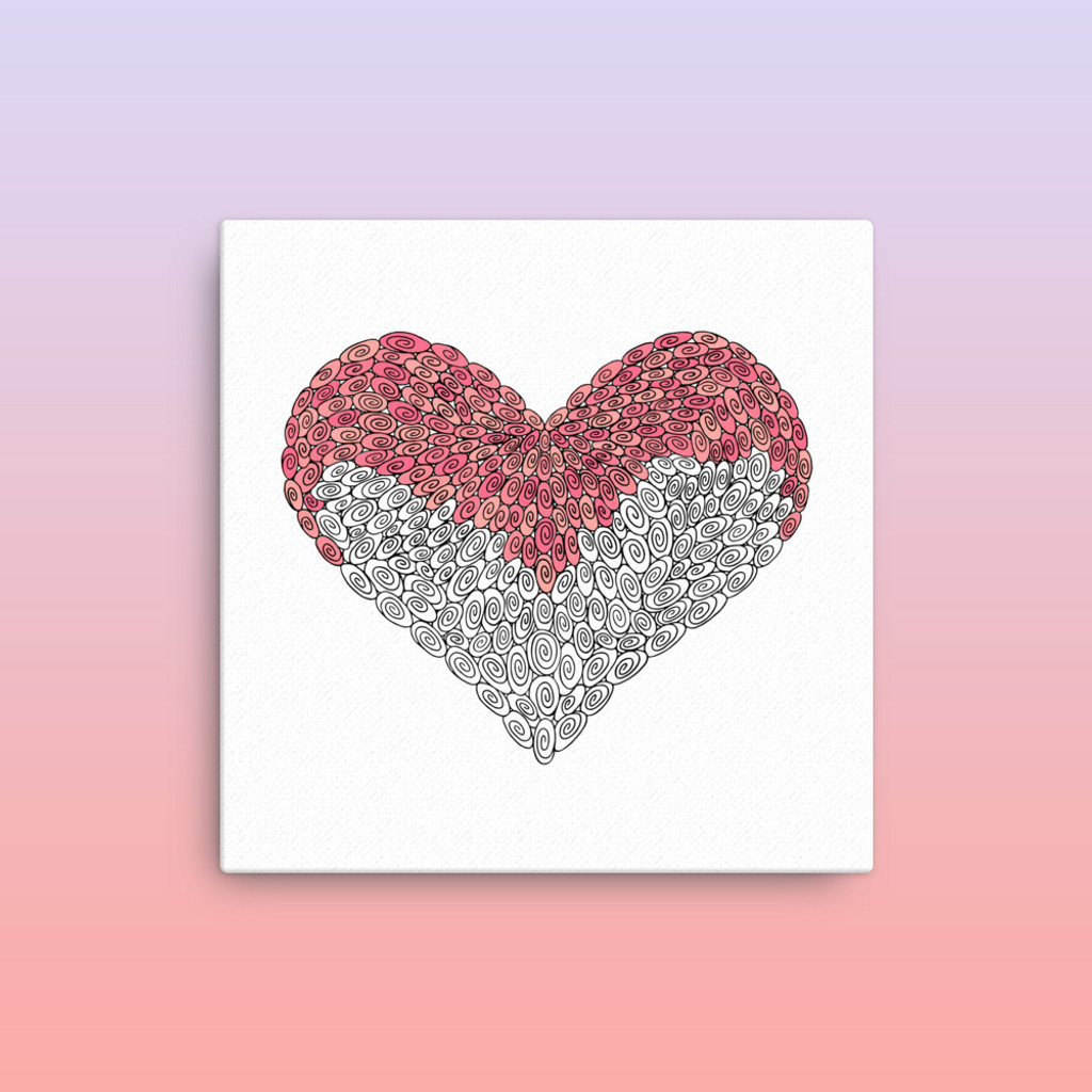 275 Swirl Heart : Love Collection : Canvas