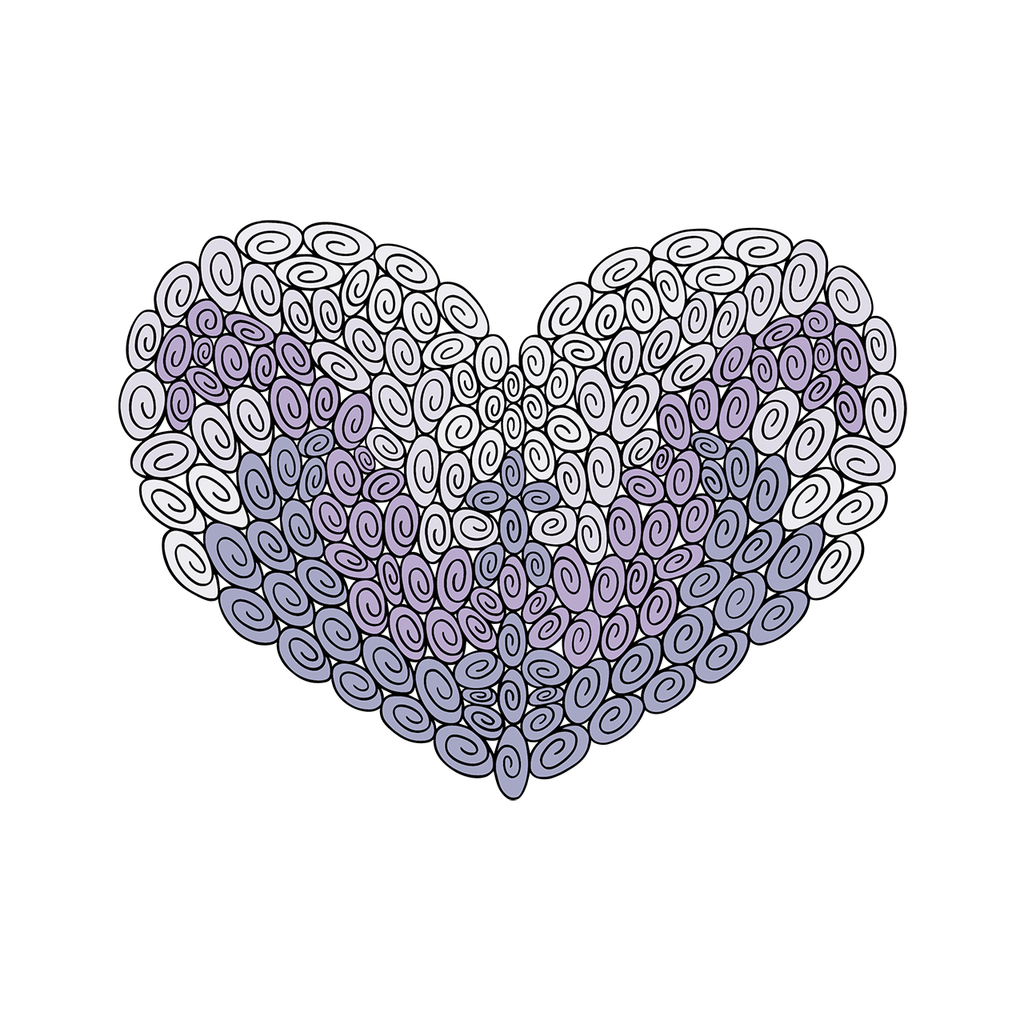 180 Swirl Heart : Love Collection : Canvas