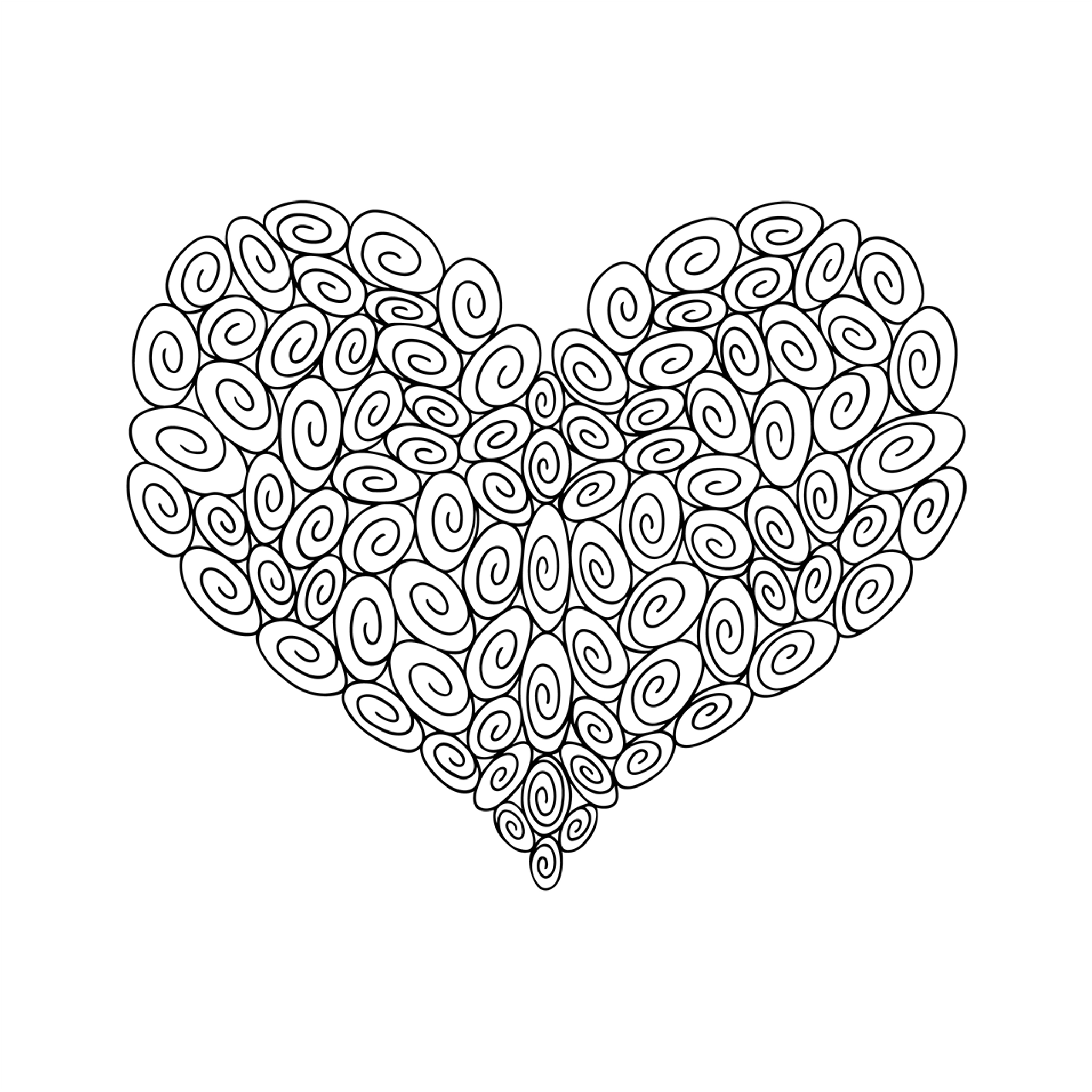 90 Swirl Heart : Love Collection : Canvas
