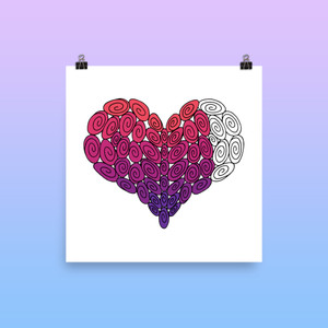 52 Swirl Heart : Love Collection : Fancy Print
