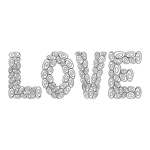100 Swirls in LOVE—25 per letter!