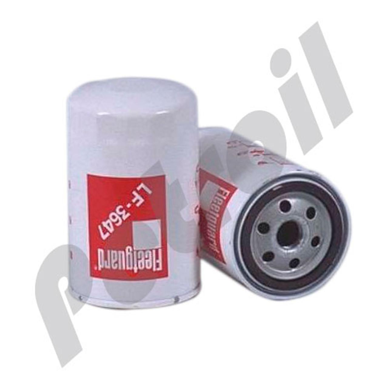 (Case of 12) LF3647 Fleetguard Oil Filter Spin On Caterpillar 1N4402