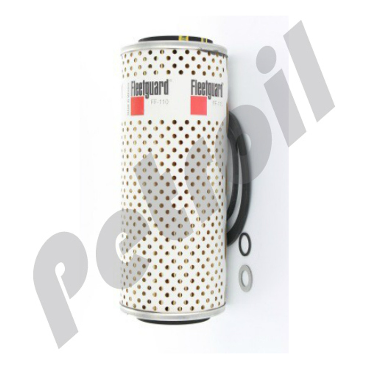(case of 12) ff110 fleetguard fuel filter cartridge metal detroit diesel