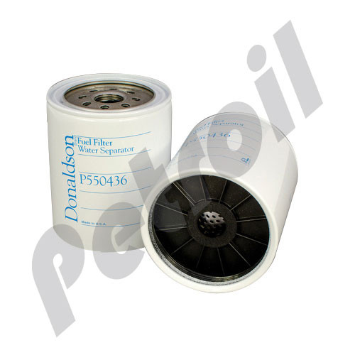 p550436 donaldson fuel filter spin on w/drain (use bowl) s3225p trucks  freightliner