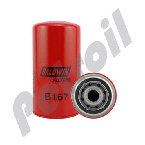 (Case of 12) B167 Baldwin HEAVY DUTY LUBE SPIN-ON