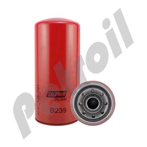 B239 Baldwin Oil Filter Spin On Detroit Diesel 5241800110 John Deere AZ36942 LFP2248 (Similar to B99 ByPass) WD13145/4